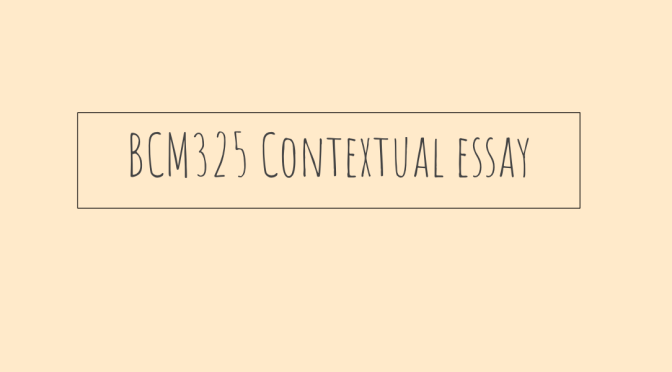 BCM325 Contextual Essay – The future of hairdressing