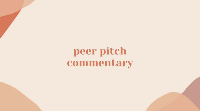 peer pitch commentary