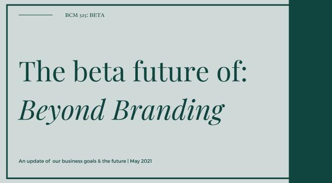 The beta future of Beyond Branding