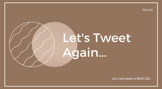 Let's tweet again…